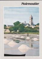 85---ILE DE NOIRMOUTIER---depuis Les Marais Salants,l´église Saint-philbert Et Le Château--voir 2 Scans - Ile De Noirmoutier