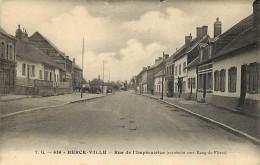 - Pas De Calais - Ref-A 675 - Berck Ville - Rue De L Imperatrice ( Extremite Vers Rang Du Fliers ) - Voir Etat - - Berck