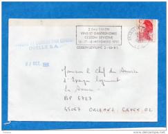 """MARCOPHILIE""""CURIOSITE""""lettre-""""parvenu Et Ouvert Par Erreur"""" QUELLE S A  Oct 1991-dest LA SOURCE  EPL - Marcophilie (Lettres)"""