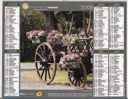 Calendrier Des Postes ,saone Et Loire 2008 - Calendars