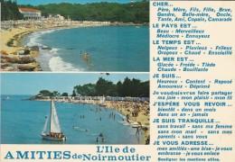 85---ILE DE NOIRMOUTIER--amitiés De L'ile De Noirmoutier--voir 2 Scans - Ile De Noirmoutier