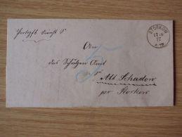 17.10.1877, DIENSTBELEG Mit STEMPEL Von STORKOW - Briefe U. Dokumente
