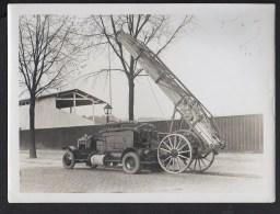 Pompier -  Photographie Originale Sapeurs Pompiers De Paris / Echelle Mécanique De Clichy - Firemen