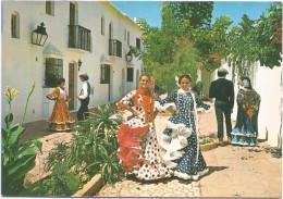 O2955 Costa Del Sol - Escena Tipica Andaluza - Folklore - Ragazze Girl Femme Frau Chica / Non Viaggiata - Costumes