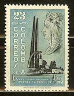 COLOMBIA 1953.03.10 [751-1] V Centenario Del Nacimiento De Isabel La Catolica - Colombia