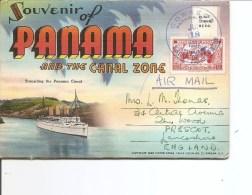Panama ( Carnet De CP De 1957 Affranchi Et Voyagé Vers La Grande-Bretagne à Voir) - Panama
