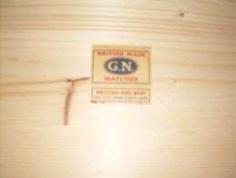 Lucifer Etiket British Made Matches G.N. - Cajas De Cerillas - Etiquetas