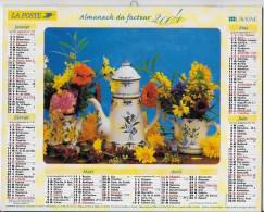 Calendrier Des Postes ,saone Et Loire 2004 - Grand Format : 2001-...