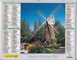 Calendrier Des Postes ,saone Et Loire 2003 - Calendarios