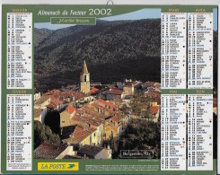 Calendrier Des Postes ,saone Et Loire 2002 - Calendarios