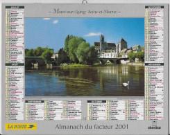 Calendrier Des Postes ,saone Et Loire 2001 - Calendars
