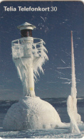SWEDEN(chip) - Iced Lighthouse, 08/99, Used - Lighthouses