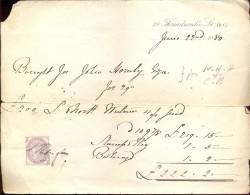 Factuur Facture - Rekening - Bill - 29 Threadneedle St - 1880 - Royaume-Uni