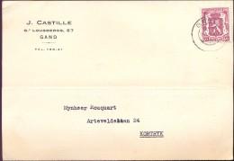 Briefkaart - Postkaart - J. Castille Gand Gent 1940 - Naar Kortrijk - Cartes Postales [1934-51]
