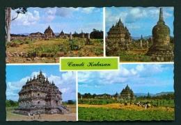INDONESIA  -  Java  Kalasan Temple  Multi View  Unused Postcard - Indonesia