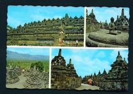 INDONESIA  -  Java  Borobudur Temple  Multi View  Unused Postcard - Indonesia