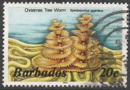 Barbados. 1985 Marine Life. 20c Used. 1987 Imprint. SG 798B - Barbades (1966-...)