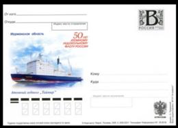 "2009-222 Russia Russland Russie Rusia Card ""B"" Nuclear Icebreaker Fleet. Nuclear Icebreaker ´Taymyr´.Ships - Navi Polari E Rompighiaccio"