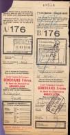 Vervoerbewijs Spoorwegen Chemins De Fer -  Gondrand Frères Bruxelles - Gent Rabot 1935 - Titres De Transport