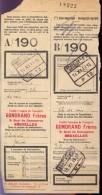 Vervoerbewijs Spoorwegen Chemins De Fer -  Gondrand Frères Bruxelles - Gent Rabot 1935 - A/190 - Titres De Transport