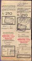 Vervoerbewijs Spoorwegen Chemins De Fer -  Gondrand Frères Bruxelles - Gent Rabot 1935 - A/210 - Titres De Transport