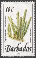 Barbados. 1989 Wild Flowers. 30c Used. 1989 Imprint. SG 895 - Barbados (1966-...)