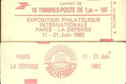 """Carnet 2187-C 3 Liberté De Delacroix """"PHILEXFRANCE 82"""" Daté 30/12/81 Fermé Bas Prix Parfait état RARE - Usage Courant"""