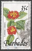 Barbados. 1989 Wild Flowers. 35c Used. 1991 Imprint. SG 895a - Barbados (1966-...)