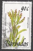 Barbados. 1989 Wild Flowers. 90c Used. 1991 Imprint. SG 901a - Barbados (1966-...)