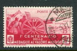 Italy Scott #337 Used - 1900-44 Vittorio Emanuele III