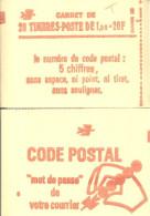 """CARNET 1973-C 1 Sabine De Gandon """"CODE POSTAL"""" Daté 11/10/78 Fermé état Parfait Bas Prix RARE Et Peu Proposé - Usage Courant"""