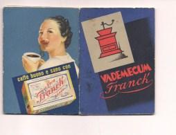 6372 Vademecum Caffè Frank 1938 Completo Con Calendario - Pubblicitario - Altre Collezioni