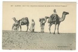 Algérie // Dans Le Sud - Chameliers Traversant Les Sables Entre Biskra Et Touggourt - Algérie