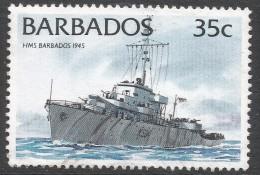 Barbados. 1994 Ships. 35c Used. No Date Imprint. SG 1079 - Barbados (1966-...)