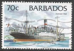 Barbados. 1994 Ships. 70c Used. No Date Imprint. SG 1083 - Barbados (1966-...)