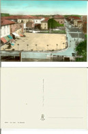 XII Morelli - Dodici Morelli (fraz. Di Cento, Prov. Ferrara): Piazza Centrale. Cartolina B/n Acquerellato Anni ´50 (bici - Ferrara
