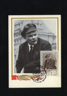 USSR 1968 Maxicard 50 Years Of Komsomol Lenin Moscow Special Cancellation  (398) - Lénine