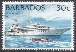 Barbados. 1994 Ships. 30c Used. 1996 Imprint. SG 1078 - Barbados (1966-...)