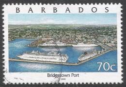 Barbados. 2000 Pride Of Barbados. 70c Used (Type II).  SG 1158a - Barbados (1966-...)