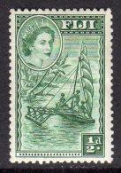 FIJI - 1954-1959 QEII HALFPENNY 1954 DEFINITIVE MM * SG 280 REF D - Fiji (...-1970)