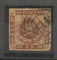 DENMARK - DANEMARK - Yvert # 8 - USED - Used Stamps