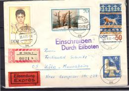 Eilsendung Exprès Görlitz 1967 > Köln-Mauerheim (ddr13) - [6] République Démocratique