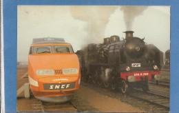 41 VENDOME          TGV ET TRAIN TOURISTIQUE   1987 TAMPON  SOUVENIR  DU JOUR  TIMBRE LA FLECHE   2 SCANS - Vendome