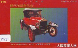 Phonecard JAPAN *  Télécarte JAPON * OLDTIMER *  (357)  *  * VOITURE * Auto * CAR * TELEFONKARTE * - Cars