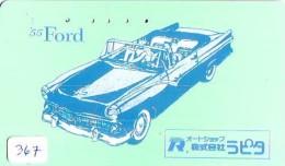 Phonecard JAPAN *  Télécarte JAPON * OLDTIMER * FORD (367) * VOITURE * Auto * CAR * TELEFONKARTE * - Auto's