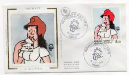"""1983--FDC Soie--1er Jour  """"Hommage à Jean Eiffel""""  (Marianne)----cachet  PARIS - FDC"""