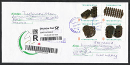 Turkmenistan R-Brief 2015 Registered Letter Cover Goldschmuck Women´s Jewerly 2014 - Turkmenistan