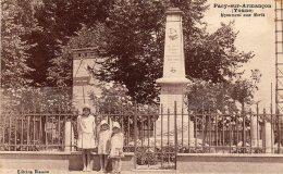 PACY Sur ARMANCON - Monument Aux Morts - Autres Communes