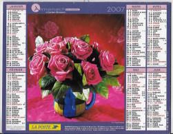 Calendrier Des Postes ,saone Et Loire 2007 - Tamaño Grande : 2001-...