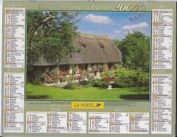 Calendrier Des Postes ,saone Et Loire 2000 - Calendarios